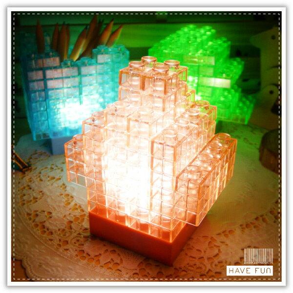 ~aife life~DIY積木燈 果凍拼圖積木 小夜燈 小檯燈 燈 裝飾燈 夜店 PUB