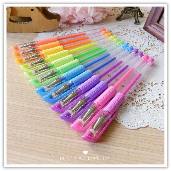 【aife life】螢光原子筆/中性原子筆/彩色原子筆/螢光色/標記塗鴉筆/重點筆/彩色筆
