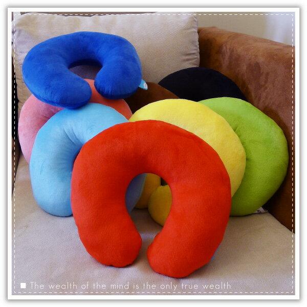 【aife life】糖果色U型枕/午睡枕/護頸枕/旅行枕/健康頸椎枕/抱枕/車用枕/靠墊