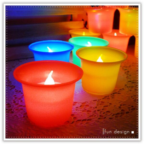 【aife life】LED酒杯蠟燭燈/彩色擬真蠟燭燈/油燈/生日蠟燭/小夜燈/居家婚禮佈置/LED燈/情境燈