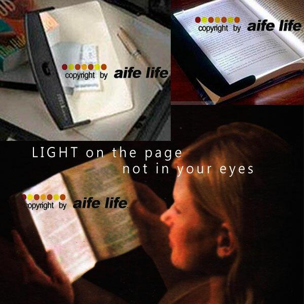 【aife life】讀書燈、閱讀燈、夾書燈、夜讀燈、亮書板,可攜式亮平板看書燈,白光設計 0
