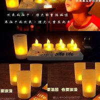 【aife life】浪漫滿屋居家擺飾LED擬真黃蠟燭燈/杯燈生日蠟燭小夜燈造型燈聖誕婚禮佈置(含燈罩有聲控)