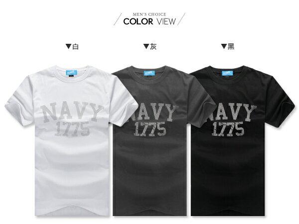 ☆BOY-2☆【YYF14】韓版潮流斑駁NAVY1775男裝短袖T恤 1