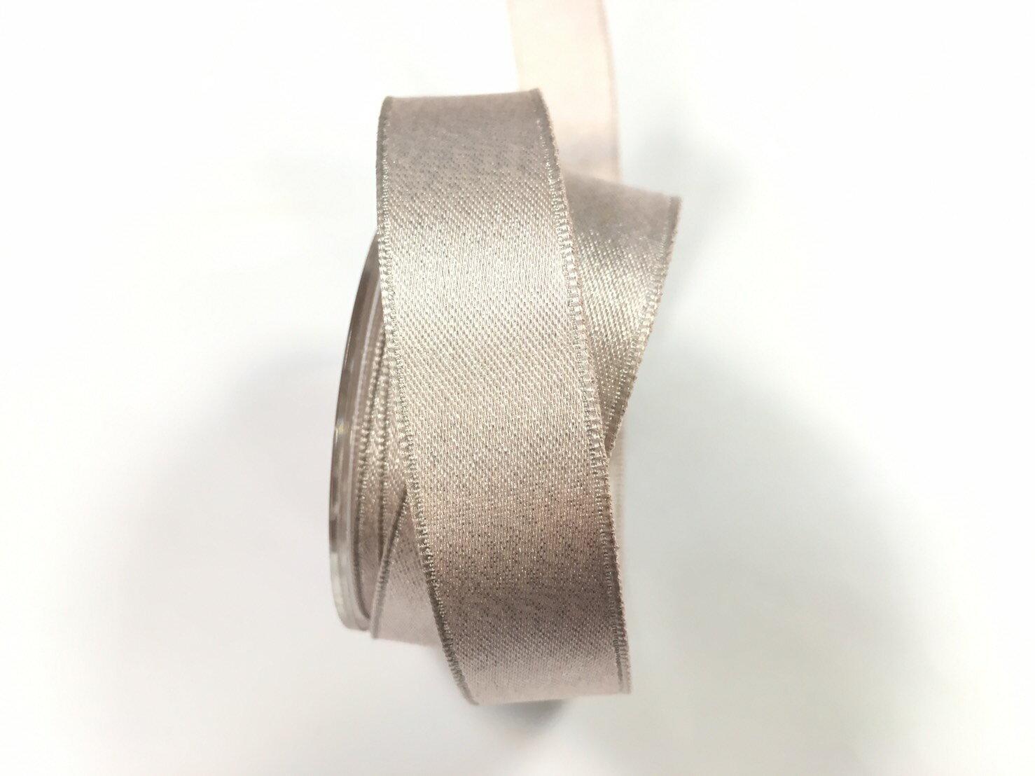 【Crystal Rose緞帶專賣店】金粉緞面鐵絲帶  3碼 (10色) 1