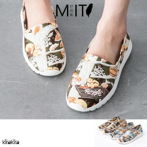 MIT懶人鞋 森林系可愛動物休閒鞋