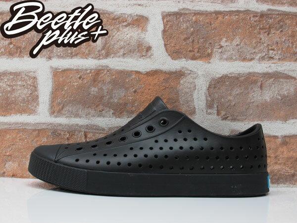 BEETLE 2015 NATIVE JEFFERSON BLACK 洞洞鞋 全黑 藍標 超輕量 防水 懶人鞋 陳冠希 0