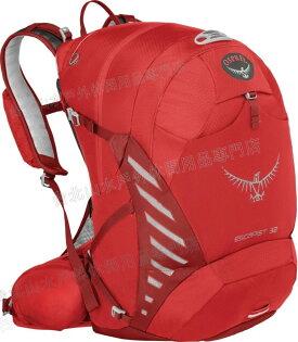 [ Osprey ] Escapist 32 登山包/單車背包/郊山/健行/水袋/腳踏車背包 紅/台北山水