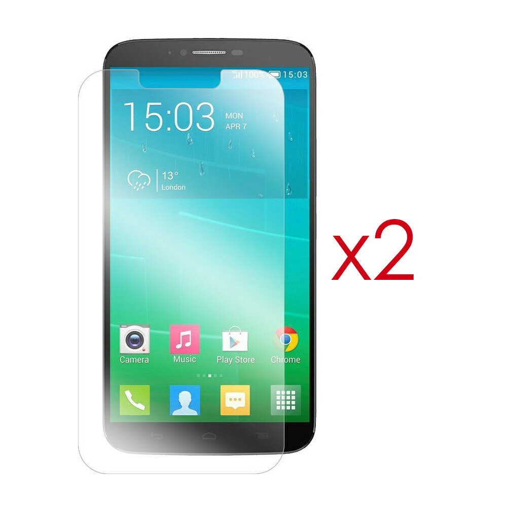 PACK 2X PROTECTOR DE PANTALLA PARA ALCATEL ONE TOUCH HERO 2 0