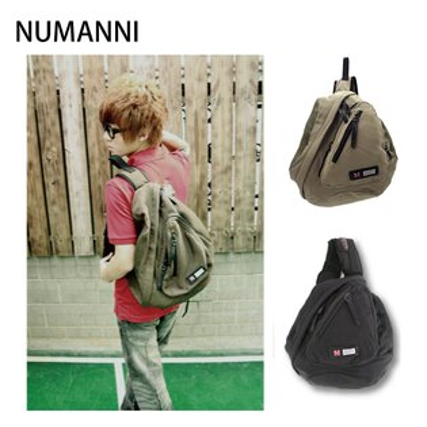 01-7753a【NUMANNI 奴曼尼】簡約造型單肩後背包 (三色)