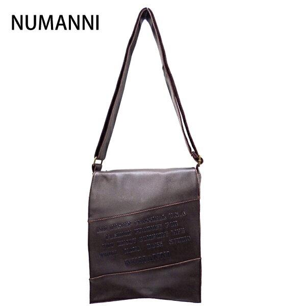 15-0010a【NUMANNI 奴曼尼】小款街頭熱賣皮革側背包 (深咖)