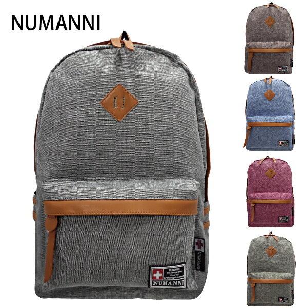 82-9013【NUMANNI 奴曼尼】質感豬鼻電腦後背包  (五色)