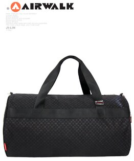 【美國AIRWALK 】典雅大方圓筒旅行袋(大款)
