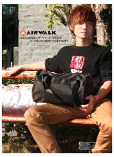 【AIRWALK】典雅時尚圓筒旅行袋(小款)