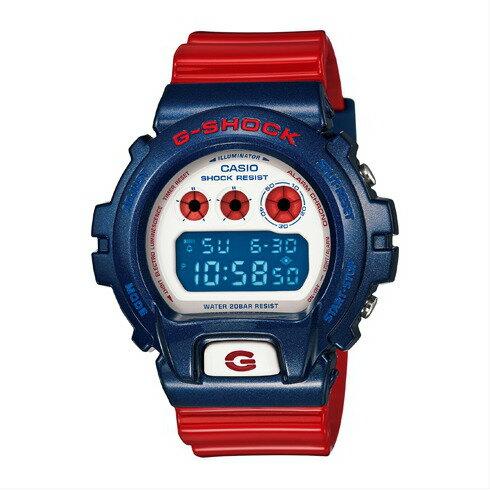 CASIO G-SHOCK DW-6900AC-2DR美國隊長數位流行腕錶/50mm