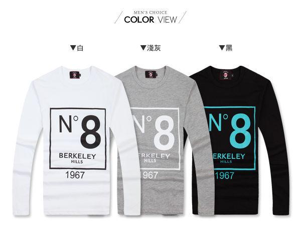 ☆BOY-2☆ 【PPK86016】韓式N8印花長袖T恤 2