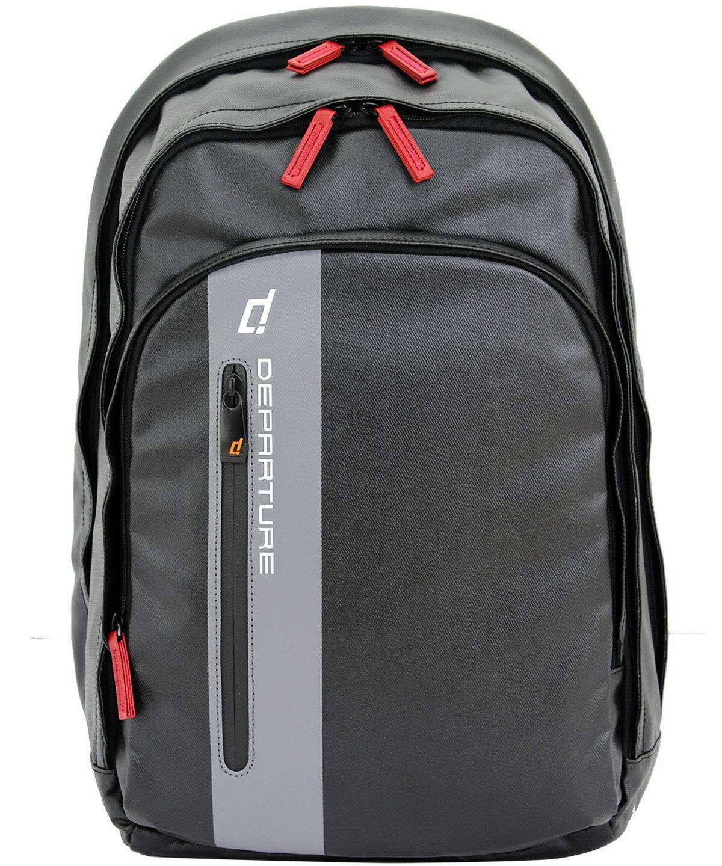 「雙肩後背包」行李箱拉桿 筆電包 防潑水材質×黑色 :: departure 旅行趣/ BP052 0