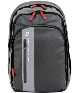 「雙肩後背包」行李箱拉桿 筆電包 防潑水材質×黑色 :: departure 旅行趣/ BP052