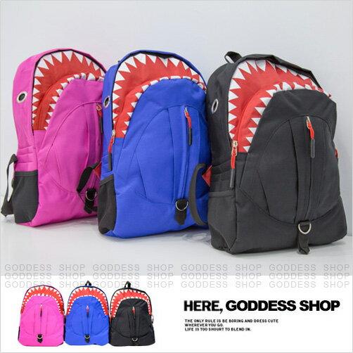 均一價299-嘉蒂斯包包 趣味鯊魚情侶閨蜜後背包【W353】3色 現貨+預購