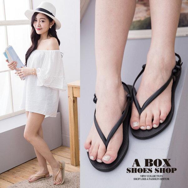 格子舖*【AW9028】MIT台灣製 簡約防水素面PVC橡膠材質 人字夾腳涼鞋拖鞋 海灘涼鞋 3色