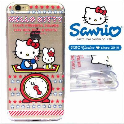 官方授權 三麗鷗 Sanrio Hello Kitty 浮雕 彩繪 iPhone 6 6S Plus Note5 Z5 Z5P A5 A7 A9 手機殼 軟殼 星星磅秤【D0220179】