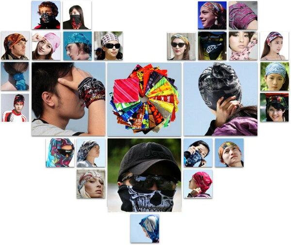 【買十送二】可挑款X-FREE無縫多功能百變魔術頭巾 百變頭巾骷 顱骷髏面罩迷彩領巾贈品禮品七星山