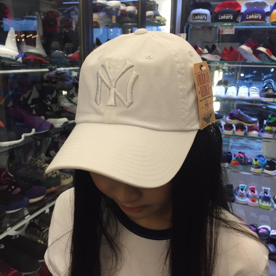 BEETLE AMERICA NEEDLE 老帽 紐約 洋基 NEW YORK TANKEES DAD 大聯盟 全白 MN-376 0