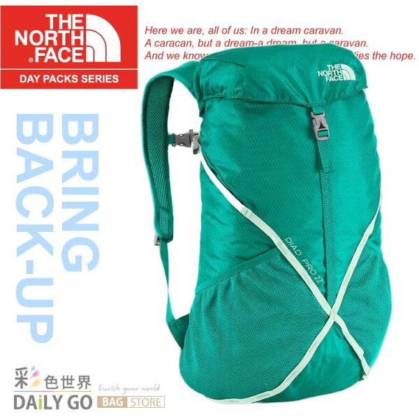 The North Face 後背包 輕量專業登山背包 22L-海島綠/浪花綠 CF05-BQH