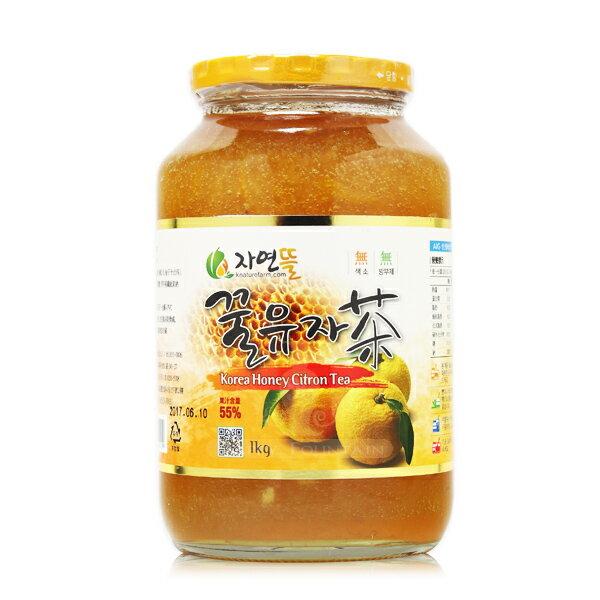韓國進口 黃金蜂蜜柚子茶 1kg (※限宅配出貨)
