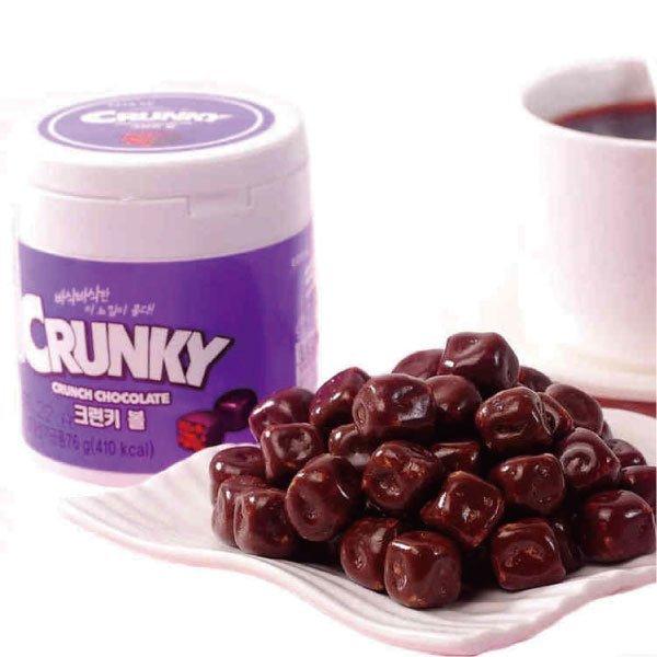韓國 樂天 Crunky 巧克力球 脆米巧克力 76g