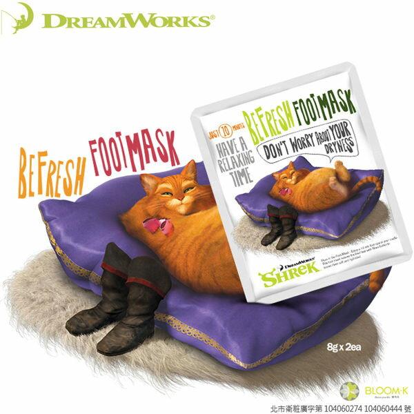DreamWorks 夢工廠 史瑞克系列 喵喵清爽足膜(一對入) 卡通聯名美妝