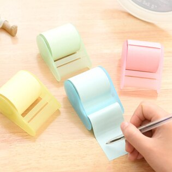生活小物 超大卷筒式可撕便利貼/N次貼/紙膠帶 1入 顏色隨機出貨
