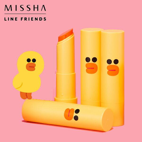 韓國 MISSHA x LINE FRIENDS 莎莉魅惑瑩潤唇膏 4g 限量聯名 卡通聯名美妝