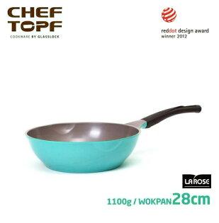 【預購-10/30-11/10出貨】韓國 CHEF TOPF La Rose玫瑰鍋 炒鍋(無蓋)28cm不沾鍋 ※限宅配
