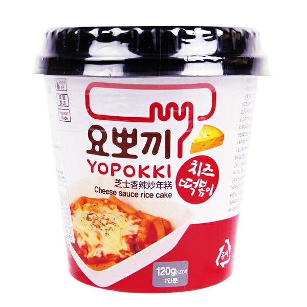 韓國 Yopokki 辣炒年糕微波即食杯(起司) 120g