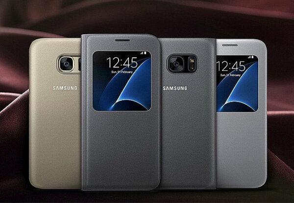 原廠皮套 三星 SAMSUNG S7 S View 智能皮套/視窗皮套/手機套/保護套/手機殼/保護殼【馬尼行動通訊】