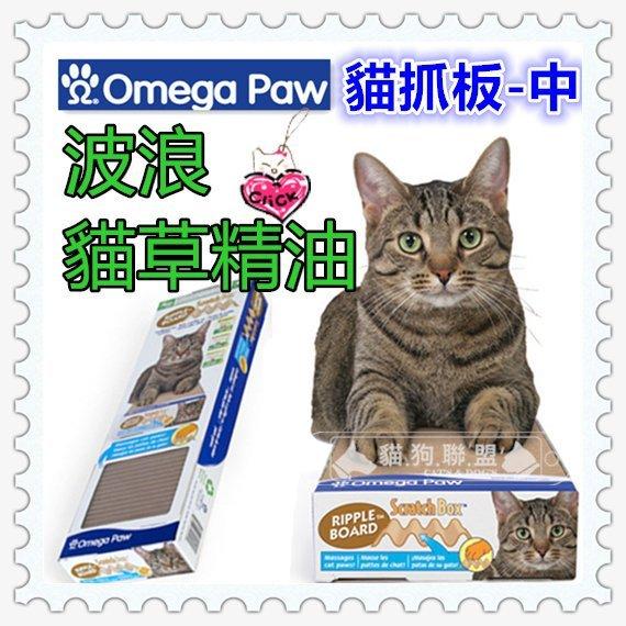 +貓狗樂園+ Omega Paw加拿大貓咪【波浪貓草精油。貓抓板。中】240元