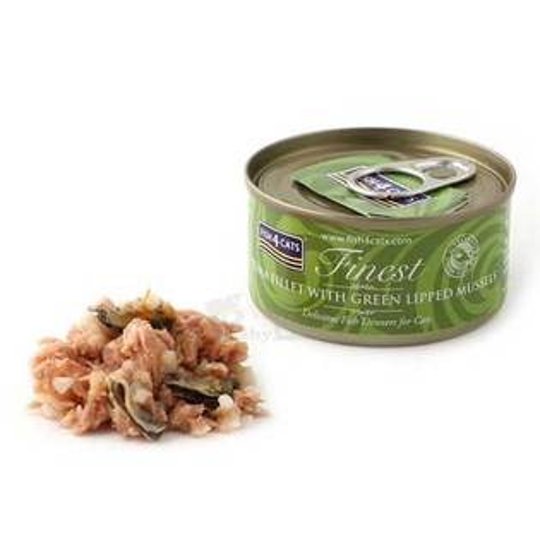 【海洋之星FISH4CATS】鮪魚綠唇貝貓罐 (70g/罐)