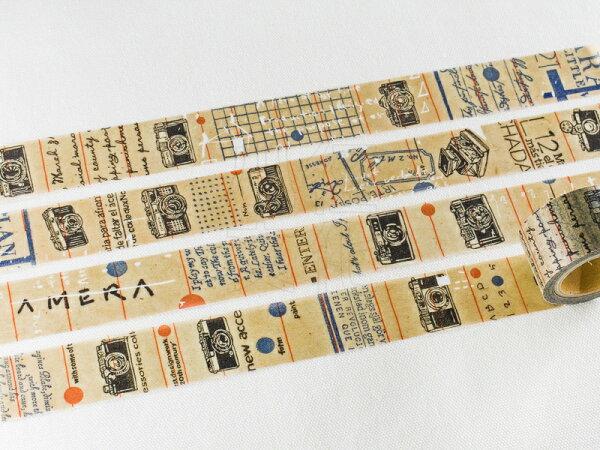 *小徑文化*   台灣原創   日本進口和紙膠帶 小徑 X 夏米花園 8th. 韶光荏苒 系列  - CAMERA ( MTW-CH081 )