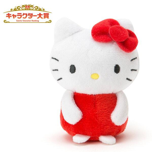 【真愛日本】16051100002迷你造型玩偶-KT紅   三麗鷗 Hello Kitty 凱蒂貓 豆豆娃 站姿娃 玉手娃 絨毛娃