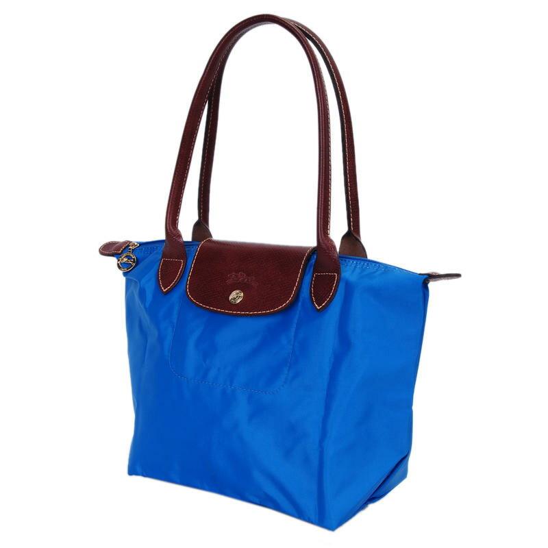 [2605-S號] 國外Outlet代購正品 法國巴黎 Longchamp 長柄 購物袋防水尼龍手提肩背水餃包 佛青藍 0