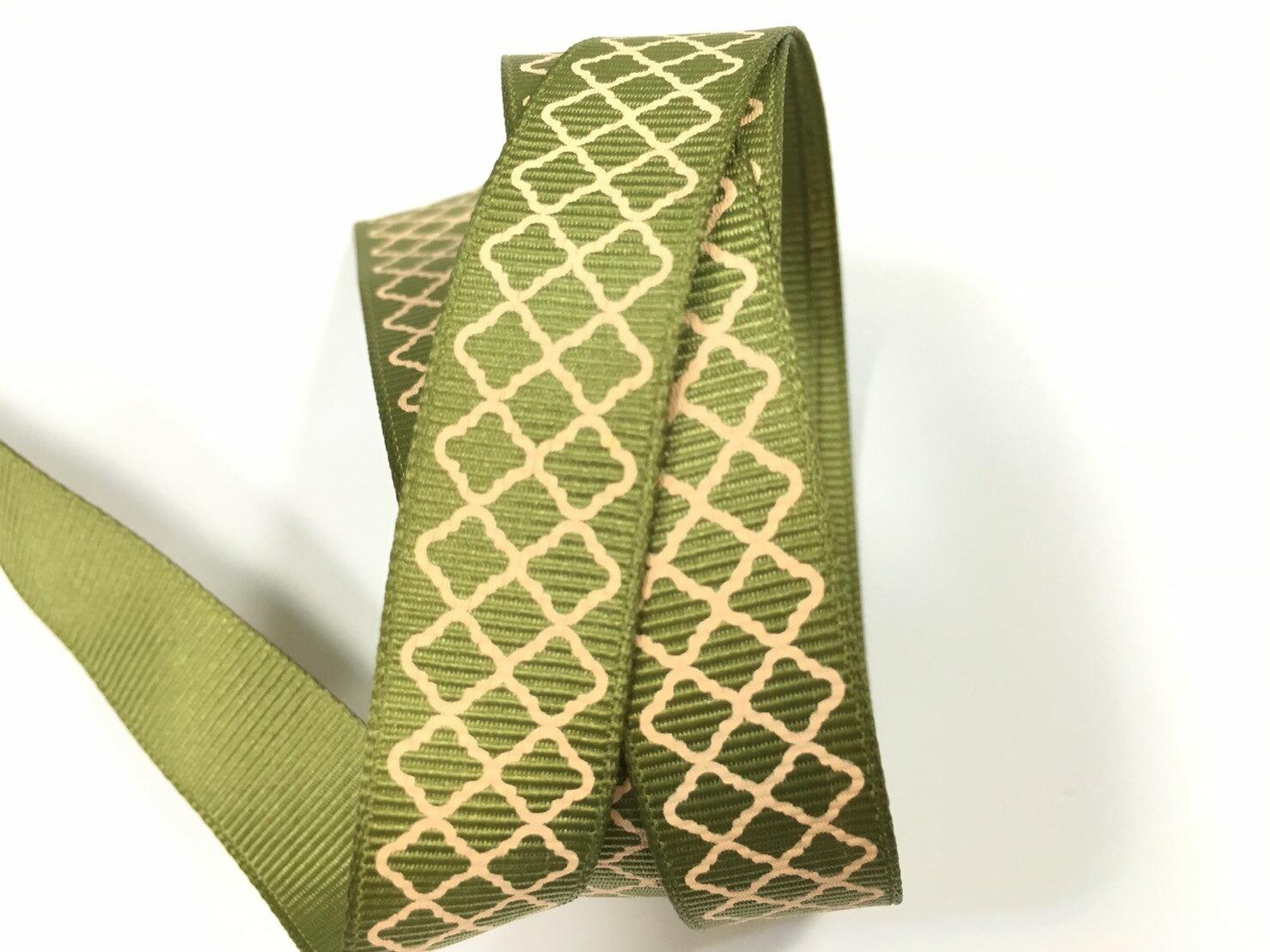 羅紋緞帶-網格 15mm 3碼裝 (5色) 1