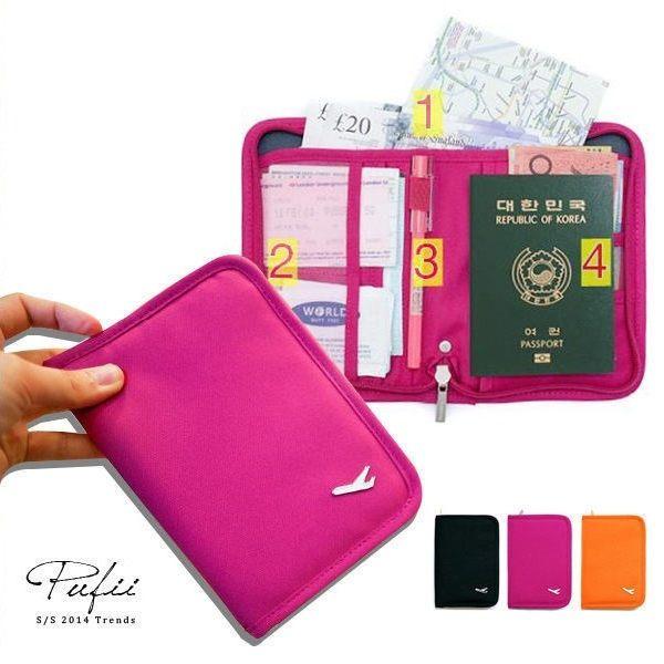 收納短夾 韓版多功能旅行收納短款護照夾證件包-帕妃PUFII 0725 現+預【CP5840】