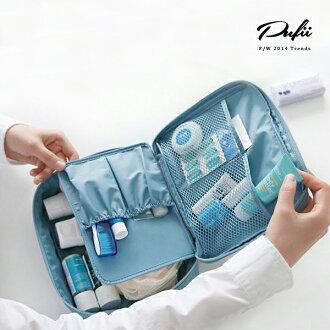 收納包 可拆內隔層立體化妝包收納袋- 帕妃PUFII  0918現+預【AP6201】