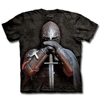 『摩達客』[預購] 美國進口【The Mountain】自然純棉系列 盔甲騎士 設計T恤