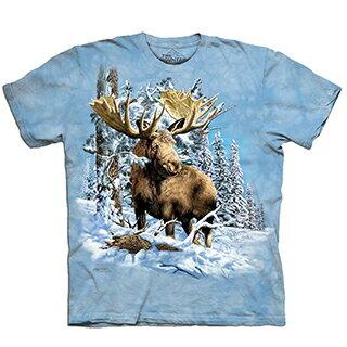 『摩達客』[預購-大尺碼3XL] 美國進口【The Mountain】自然純棉系列  尋七駝鹿  設計T恤
