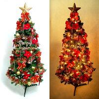 聖誕節禮物推薦『摩達客冬季生活限定』超級幸福15尺/15呎(450cm)一般型裝飾聖誕樹  (+紅金色系配件組+100燈樹燈12串)本島免運費