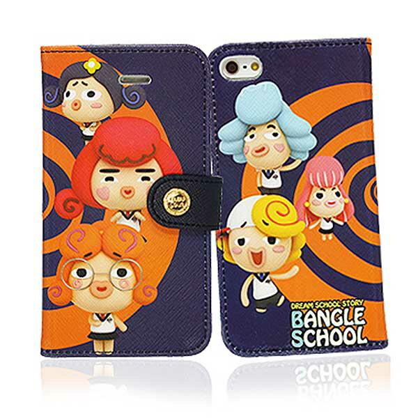『摩達客』iPhone5手機皮套韓國Fabulous進口【Bangle School】麻吉好友圈橘藍