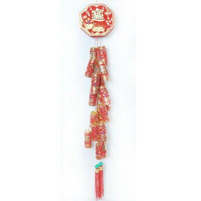 『農曆新年限定』農曆春節元宵 12吋財神爺紅綢布燈籠(一組兩入)