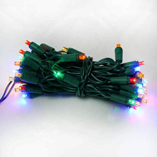 『冬季生活限定』LED燈串聖誕燈-50燈樹燈串 (四彩光)(附控制器跳機)(高亮度又省電)