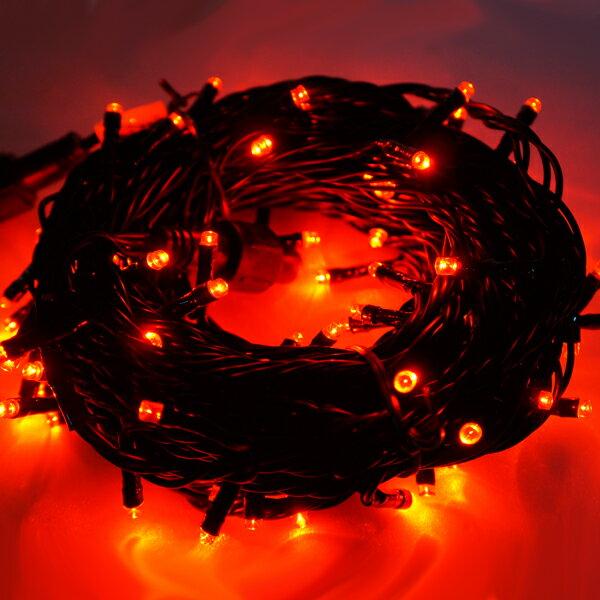 『冬季生活限定』LED燈串聖誕燈-100燈樹燈串 (紅光)(附控制器跳機)(高亮度又省電)